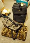 Athalon Duffel Bag (New With Tags), Leopard Print Duffels And Bill Blass Rolling Carry on Bag, Total Pieces 5