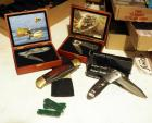 Pocket Knife Collection Including Locomotive &  Mallard Collectors Knives, Super Knives And More, Qty 7