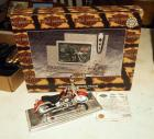 Maisto Harley-Davidson Die Cast 1999 Fat Boy Replica Motorcycle 1:18 Scale And Harley-Davidson Photo Frame (New In Box)