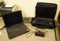 Dell Latitude Model PPX Laptop, Compaq Presario Laptop Model V6000 , Cyber Laptop Cooler (No Power Cords) And Carrying Case