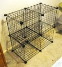 "Wire Grid Modular Storage Rack, 29"" X 29"" X 14"""