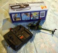 Popiel Pocket Fisherman, New In Box And  Air Hogs RC Mini Helicopter