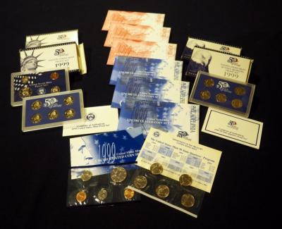 US Mint 1999 State Quarter Proof Sets, Qty 10 Sets
