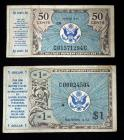 US Military Payment Certificates, Series 472, 1 Dollar And 50 Cents, Total Qty. 2 Notes
