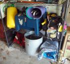 3 Gallon Pump Sprayer,  Stackon Foot Stool/Tool Box, Weed And Insect Control Products, Gardening Hand Tools And More, Contents of Shelf