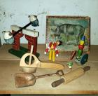 Vintage Wood Toys Including Humpty Dumpty Teeter Totter, Wood Block Puzzles, Dancing Wood Toy And More