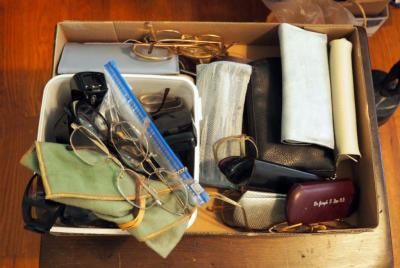 Eye Glass Assortment Including Cases, Approx Qty 40 Pair