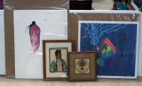 "Native American Inspired Artwork, Includes ""Message To The Spirits"" By Laurie Jay Horsemen (205/500), Woman Walking By Arthur J Short Bull, And More"