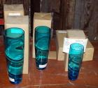 "Tapered Spiral Glass Vases, 10"" Qty 3, 12"" Qty 1, 14"" Qty 2,, (D2)"