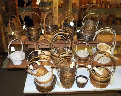 Tall Cross handle Basket Assortment, Various Shapes Styles And Sizes, Qty 48 , (O1)