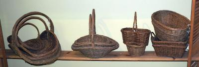 Natural Woven Rattan Baskets, Square Trays With Ear Handles  And More, Qty 13, (O1)