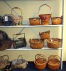 Rattan And Split Wood With Wrapped Rope Rim, Wood Ear Handles & Twisted Vine Cross Handles, Qty 14, (O2)