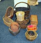 Woven Rattan Beehive Birdhouse, Grape Vine Cube, Picnic, Magazine Basket, Pot Covers And More, Qty 22, (O2)