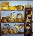 Bamboo, Willow And Rattan Cross Handled Baskets, Trays And More, Natural Finish, Qty 34, (O2)