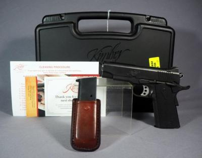 Kimber Pro TLE II .45 ACP Pistol SN# KR112242, With 2 Total Mags, Mag Holder And Paperwork, In Hard Case