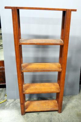 "Solid Wood Open Back Book Shelf, 55"" x 27"" 8.25"""
