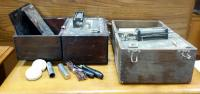 Antique Quack Medical Portable Faradic Batteries, Qty 2