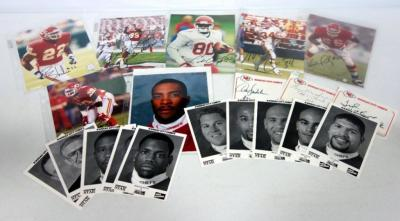 Kansas City Chiefs Autographed Player Photos, Includes Victor Riley, Bam Morris, Jesse Haynes, Rashaan Shehee, Andre Rison And More, Most With COAs