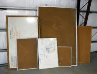 Peg Board And Dry Erase Board Assortment, Various Sizes, Qty. 8