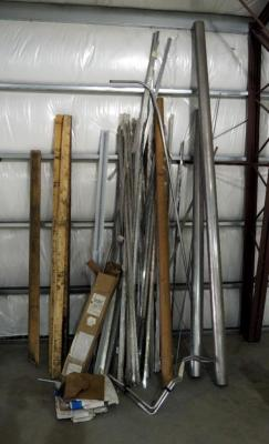 "Scrap Metal Assortment Including 6"" Galvanized Steel Pipe, Trim And More"