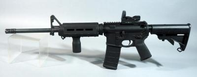 Smith & Wesson M&P 15 5.56 Nato/.223 Rifle SN# Th84995, With Adjustable Stock And Sight-Mark Red Dot Sight
