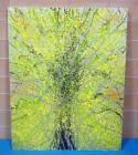 Sam Finley (American, 1956 - ), Abstract Wall Art Of Tree, 4' x 5', Signed On Back, See Description
