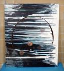 "Sam Finley (American, 1956 - ), Abstract Wall Art Of ""Outer Space"", 5' x 6', Signed And Dated On Back, See Description"