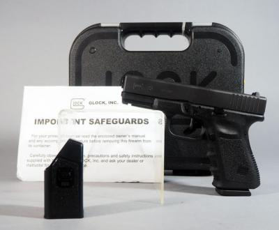 Glock 23 .40 Cal Pistol SN# BEDE685, With Speed Loader And Paperwork, In Hard Case