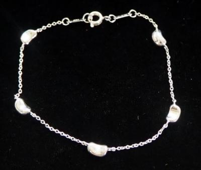 Tiffany & Co Elsa Peretti Sterling Silver 5 Bean Design Bracelet