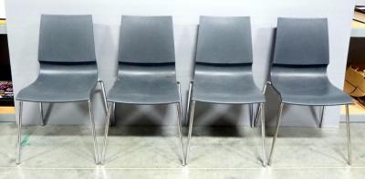 Marco Maran Gigi Armless Chair With Sled Base, Qty 4, Design Allows For Back To Tilt When Leaned Against