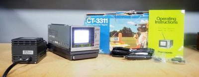 "Panasonic 2.6"" Diagonal Color TV Model CT-3311, With Manual, In Box, Powers On"