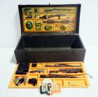 1960s G.I. Joe Foot Locker With Supplies, Includes Rifles, Boots, Hats, And More
