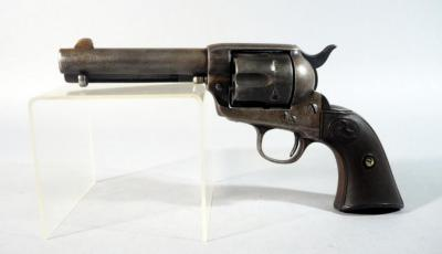 "Colt Single Action Army 44-40 6-Shot Revolver SN# 270921, Worn and Faint ""COLT FRONTIER SIX SHOOTER"" Stamped on Left Side of Barrel, With Manufacturer Letter"