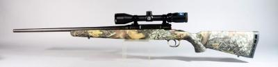 Savage Axis 30-06 Springfield Rifle SN# K809520, No Bolt, Camo Stock, With Bushnell Banner 3-9x40 Scope