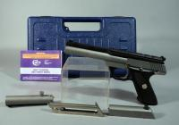 "Colt Target Model .22LR Pistol SN# PH50758, 6"" Barrel On Gun With Addl 4.5"" Barrel And Slide, 2 Total Mags, Scope Mount And Paperwork, Only 4000 Made, Unfired New In Hard Case"