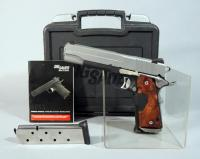 Sig Sauer Model 1911 .45 Auto Pistol SN# 54A089872, Crimson Trace, 2 Total Mags, With Paperwork, In Hard Case