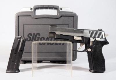 Sig Sauer Model P227 Equinox Version No Longer Made, .45 ACP Pistol SN# 51B005160, 2 Double Stack Mags, In Original Hard Case