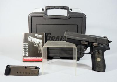 Sig Sauer Model P225 9mm Pistol SN# 46A003604, 2 Total Mags, Paperwork, In Original Hard Case