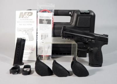 Smith & Wesson M&P 9 M2.0 Compact 9mm Pistol SN# NBZ2490, 2 Total Mags, 3 Extra Grips, Paperwork, In Original Hard Case
