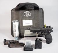 Fabrique Nationale Model FNX-45 .45 ACP Pistol SN# FX3U101812, Trijicon Model RM08 Holographic Sight, 3 Total Mags, Extra Grips And More, In Soft Case