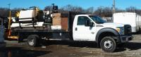 2013 F-550 Super Duty Flat Bed Truck VIN# 1FDUF5GT0DEB10807, Miles On Odometer 97,326, SEE VIDEO