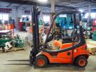 Linde/Baker LP-Powered Forklift, Model #H18CT, 3,910 Hours On Gauge, Notable Hydraulic Fluid Leak