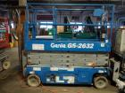 Genie GS-2632 Electric Slab Scissor Lift, 500 Pound Platform Load Capacity, Platform Height 26', 453 Hours On Gauge, Battery Will Not Charge.