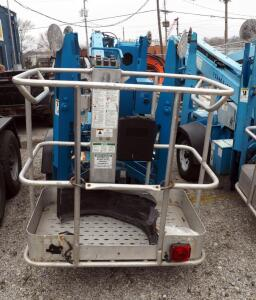 Genie TZ-34/20 Towable Trailer Mounted, Battery Operated Boom Lift, Unknown Working Condition. Hours Showing 5551, Click For More Info