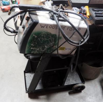 Hobart 115 Volt Electric Wire Feed Welder Model Handler 140, Includes Rolling Cart.
