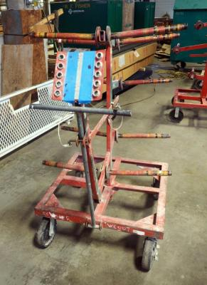 Ensley 10 Reel Rolling Wire Cart, Model #E290