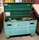 "Greenlee Metal Rolling Storage Box, Model #2448, 24"" x 48"" x 24"", Contents Not Included"