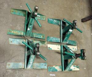 Greenlee Screw-Type Reel Stands, Model 687, Load Capacity 2500 Pounds, Qty 4