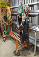 Metal Mobile Conduit & Pipe Rack With Casters, 2ND DAY LOAD OUT ONLY, Contents Not Included
