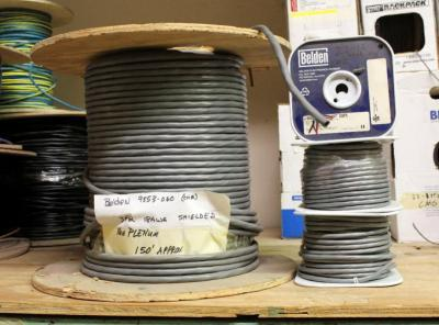 Belden Shielded 3 Pair 18AWG Cable And Unshielded Control Audio Cable, Total 4 Spools